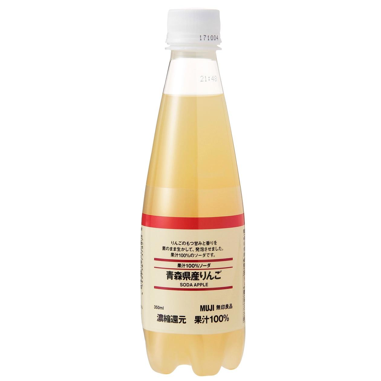 果汁100%ソーダ 青森県産りんご
