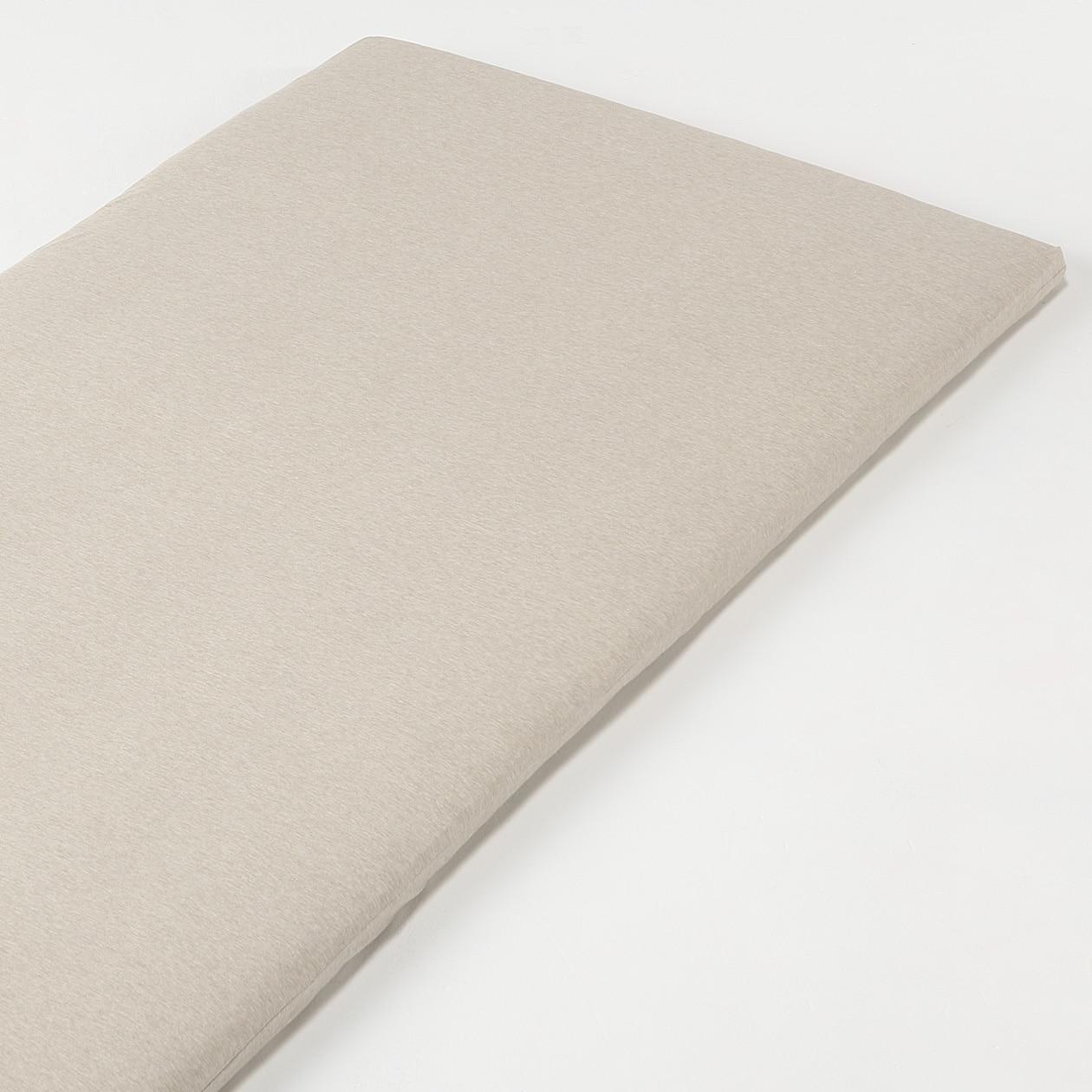 オーガニックコットン天竺ボックスシーツ・マットレス薄型スモール用/杢ベージュ