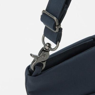 無印良品 | ポリエステル持ち歩ける整理ポーチ・ショルダー付ネイビー・約16×31×8cm 通販