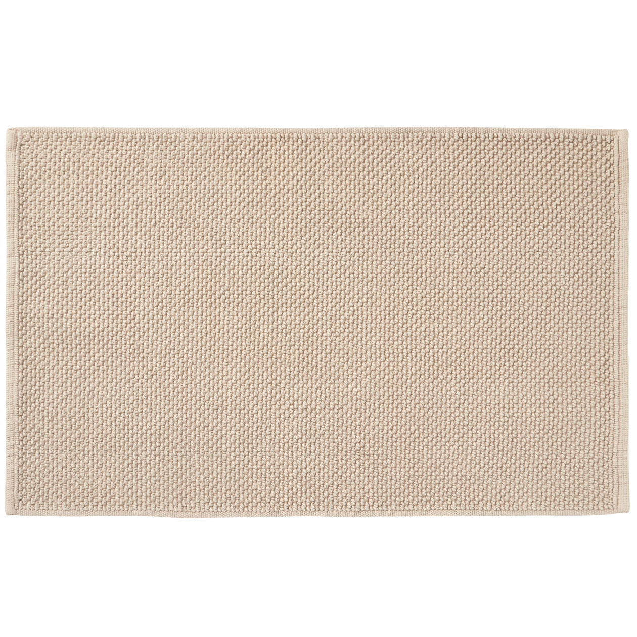 インド綿手織パイルバスマット・M/ベージュ M/ベージュ