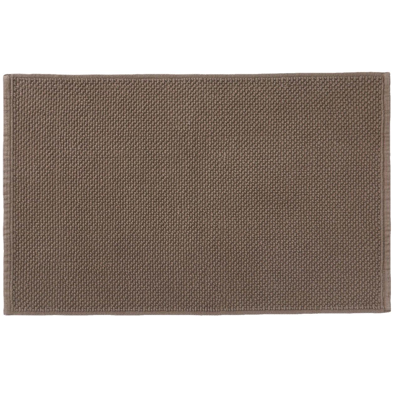 インド綿手織パイルバスマット・S/ブラウン