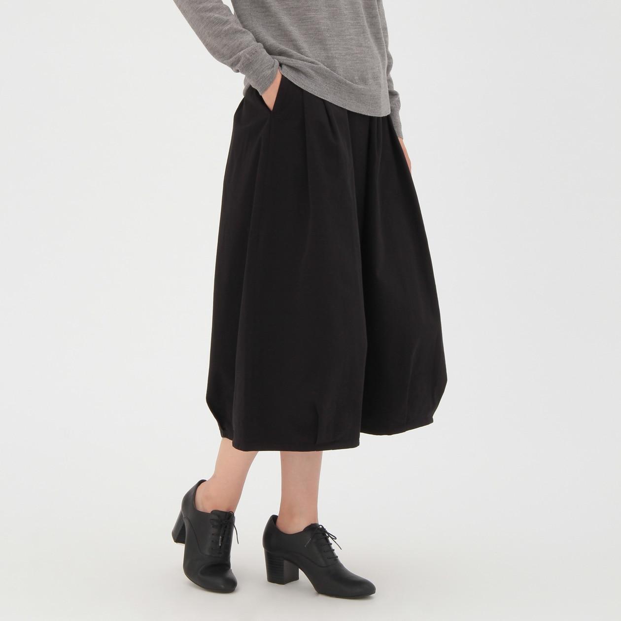 オーガニックコットン縦横ストレッチチノイージーバルーンスカート