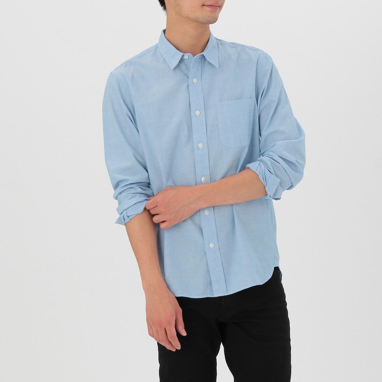 春夏用の白シャツにおすすめ! 無印良品「オーガニックコットン洗いざらしブロードシャツ」 - おしゃれなパパ と呼ばれたい  -30代以降のパパさんのためのファッション ...