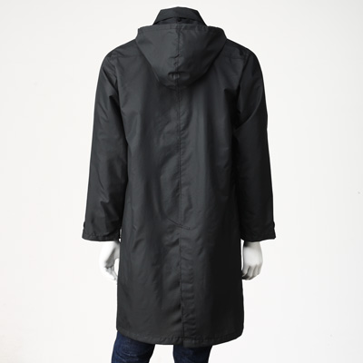 cdbfbc4bd95f POLYESTER RAIN COAT WITH BAG MENS BLACK | MUJI