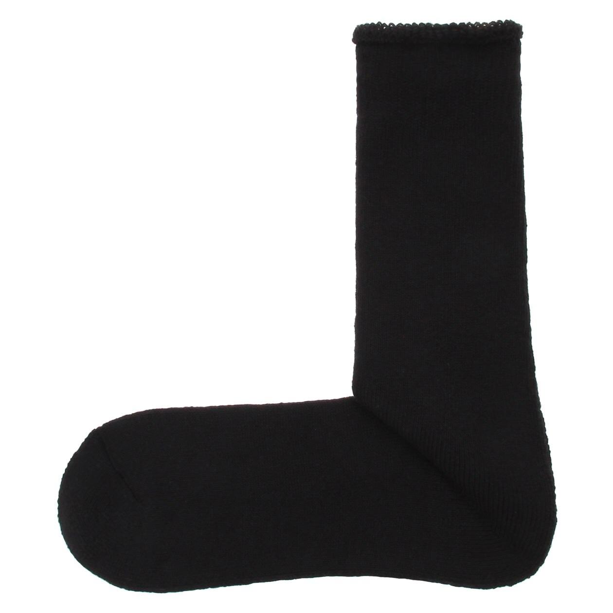 オーガニックコットン混足なり直角 厚地パイル靴下