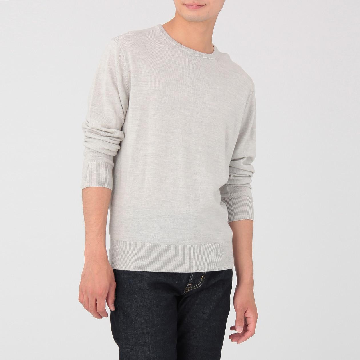 WOOL SILK WASHABLE CREW NECK SWEATER. Fashion · Men · Sweatshirts