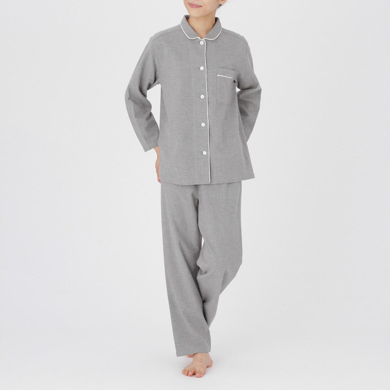 RoomClip商品情報 - 【メンズ】【レディース】脇に縫い目のないフランネルパジャマ グレー