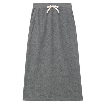 無印良品 | オーガニックコットン混ストレッチ裏毛スカート婦人S・チャコールグレー 通販