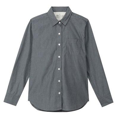 無印良品 | オーガニックコットンシャンブレーストライプシャツ婦人S・ネイビー 通販