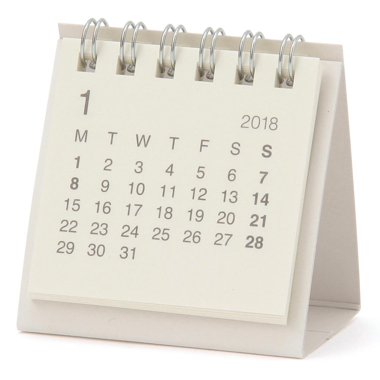 RoomClip商品情報 - バガスペーパーデスクトップミニカレンダー・2018年