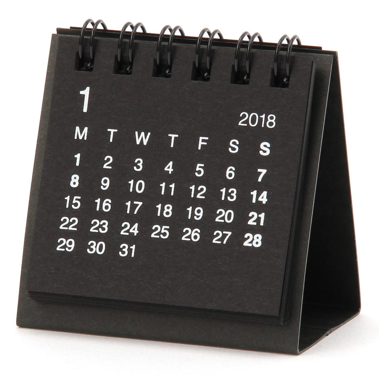 再生紙デスクトップミニカレンダー・2018年