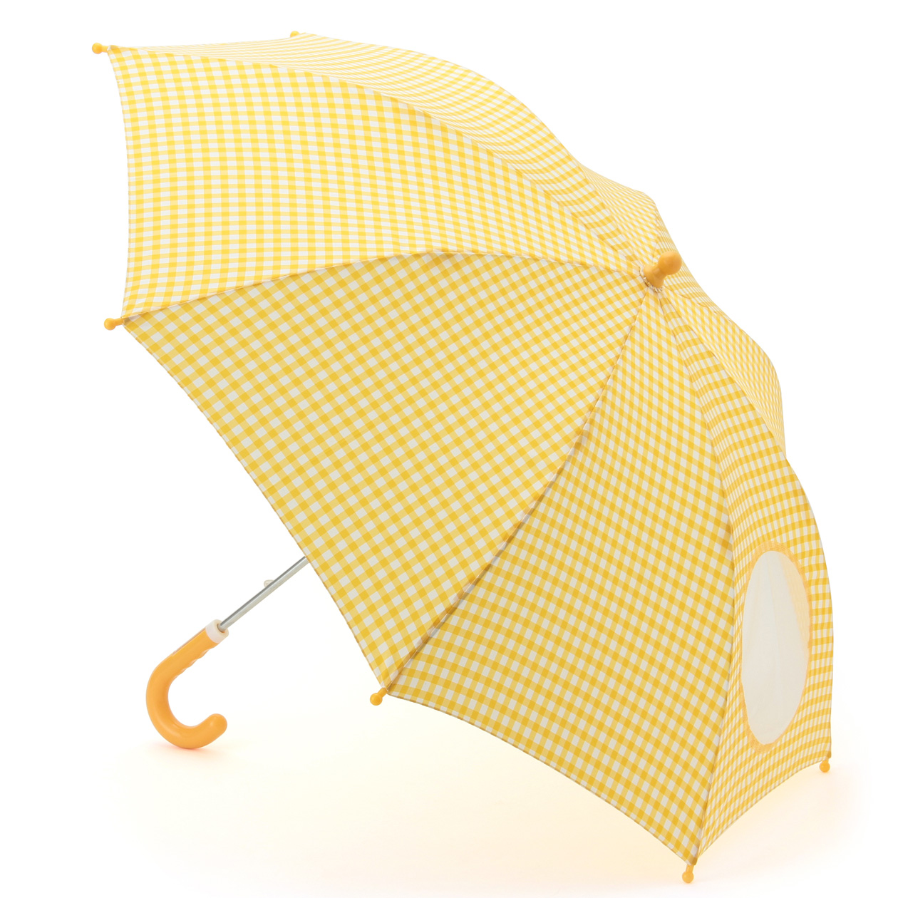 POLYESTER UMBRELLA WITH WINDOW/NAME TAG