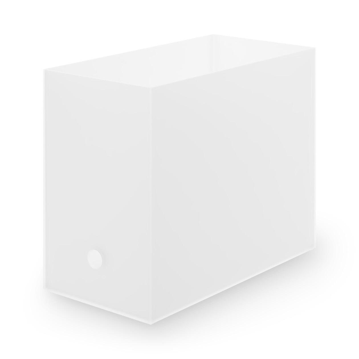 ポリプロピレンファイルボックス・スタンダードタイプ・ワイド・A4用 透過