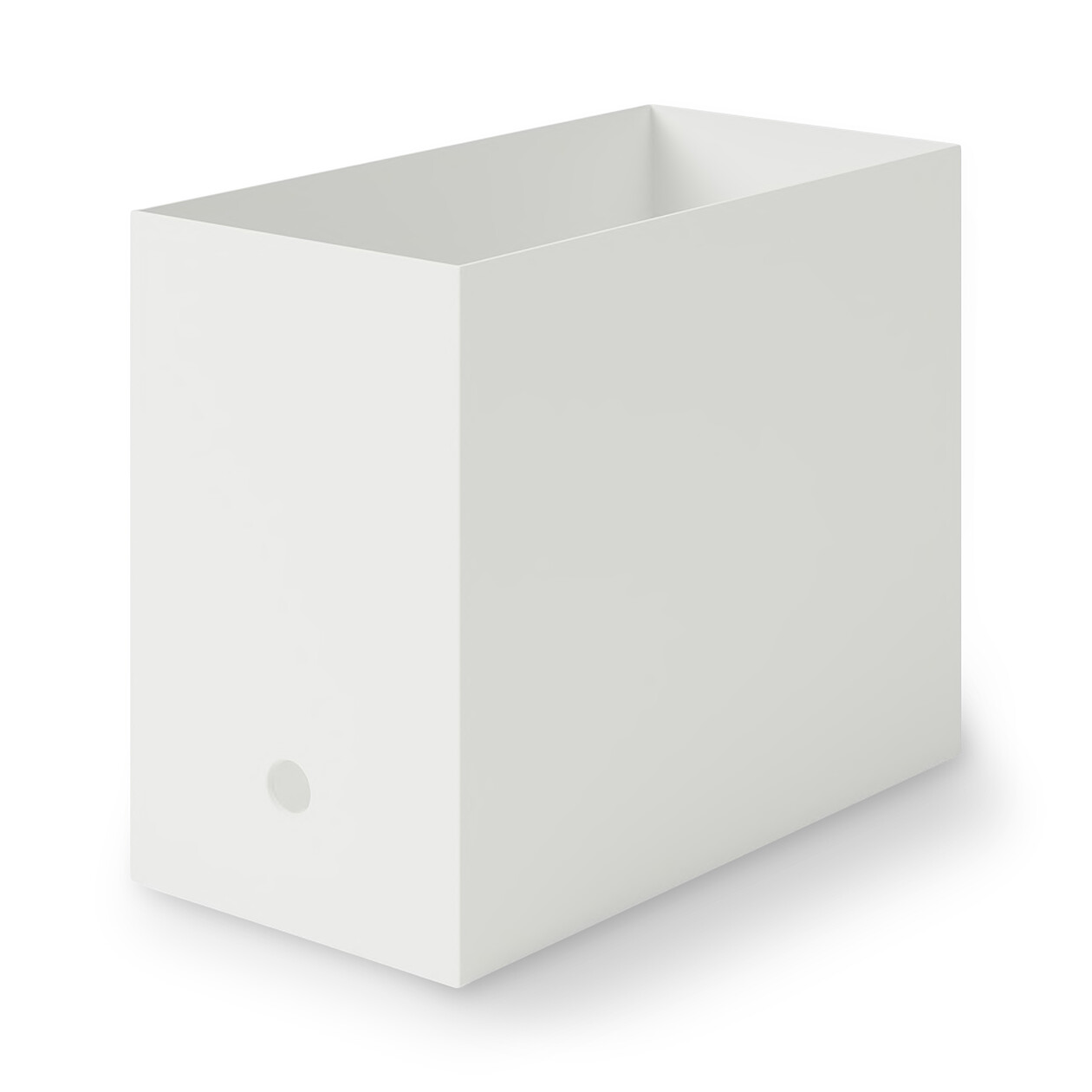 ポリプロピレンファイルボックス・スタンダードタイプ・ワイド・A4用ホワイトグレーの写真