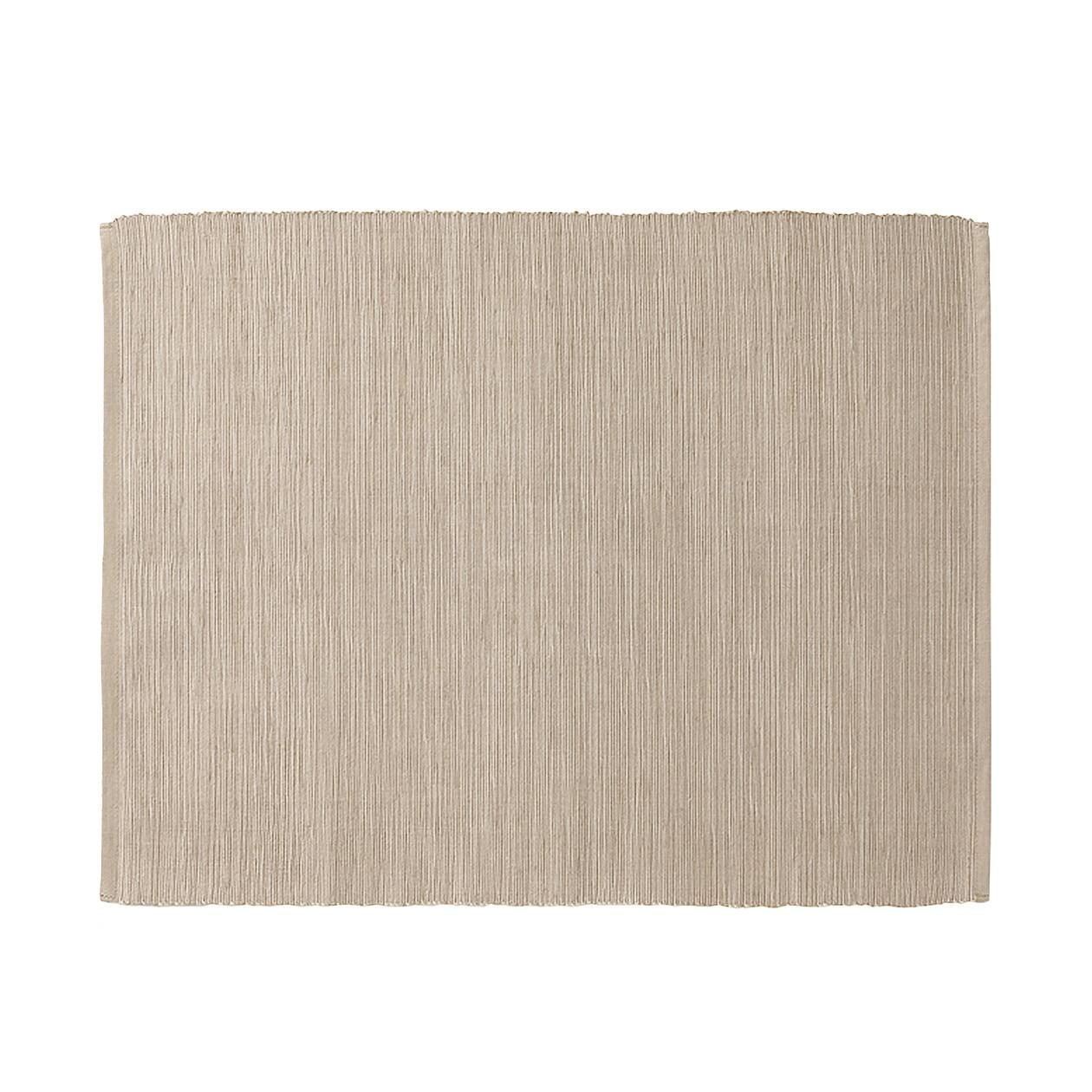 インド綿手織ランチョンマット/アイボリー ライトブラウン