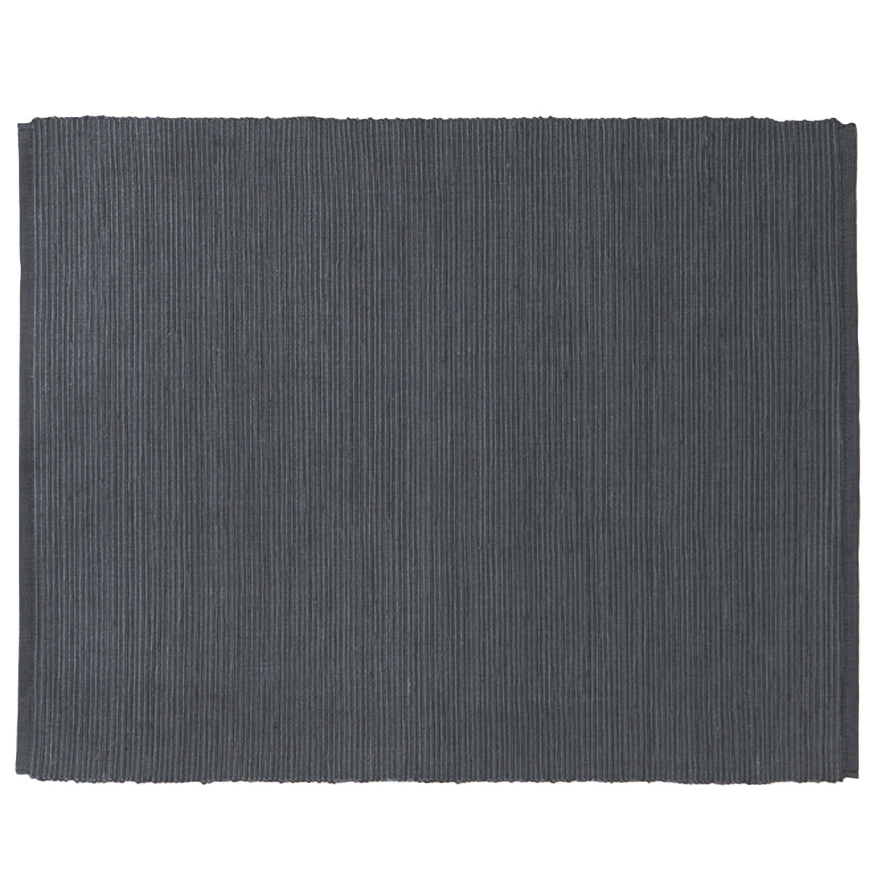 INDIAN COTTON HANDWOVEN PLACEMAT /  DARK GREY