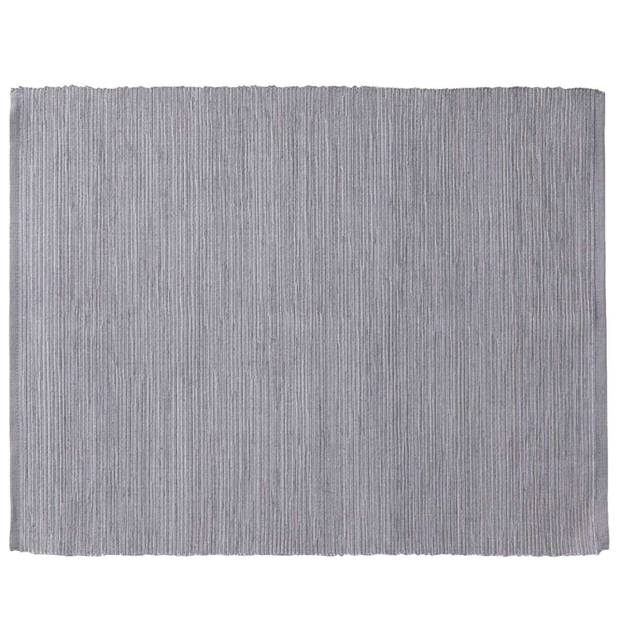 インド綿手織ランチョンマット/ライトブラウン グレー