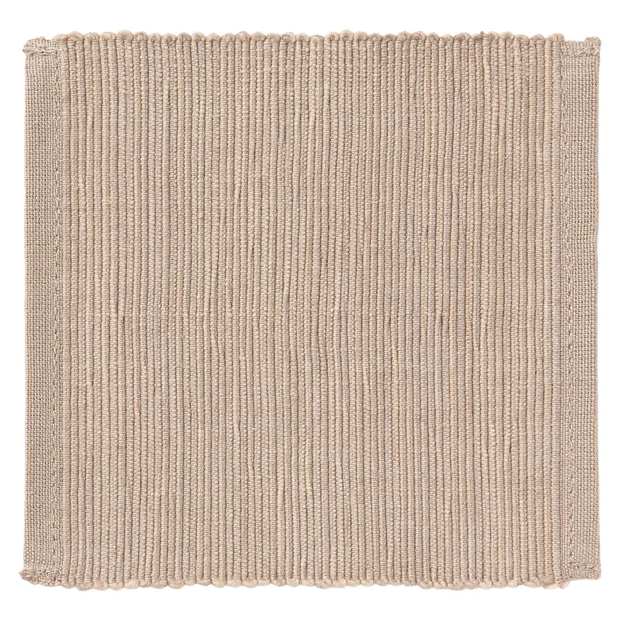 インド綿手織コースター/ライトブラウン
