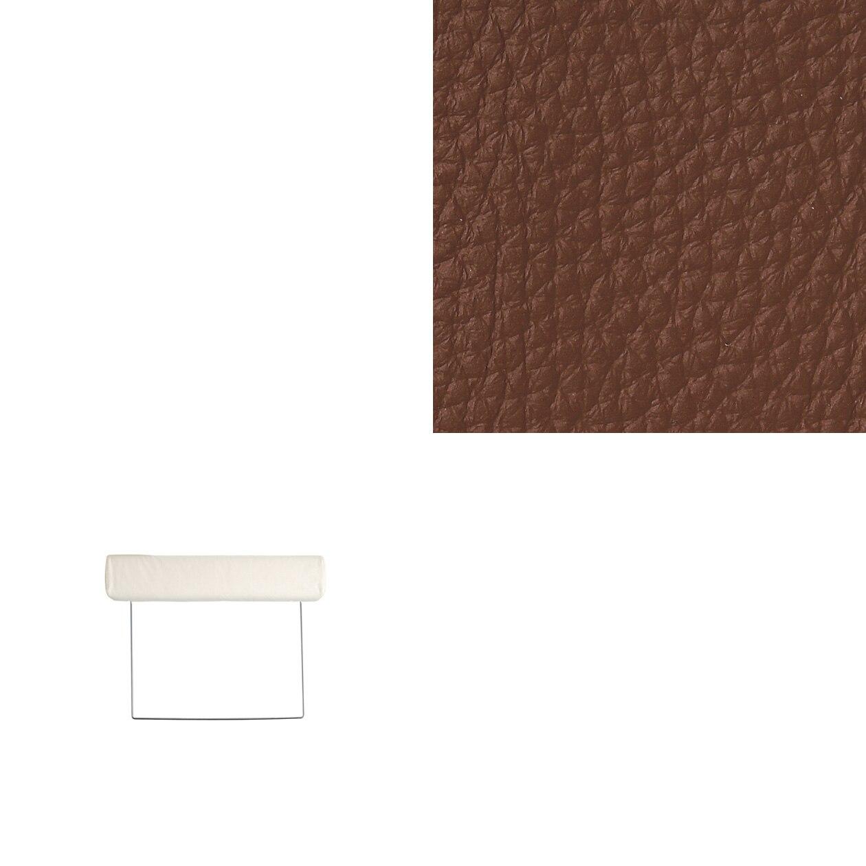 ソファ本体ヘッドレスト・3シーター用革カバー/茶