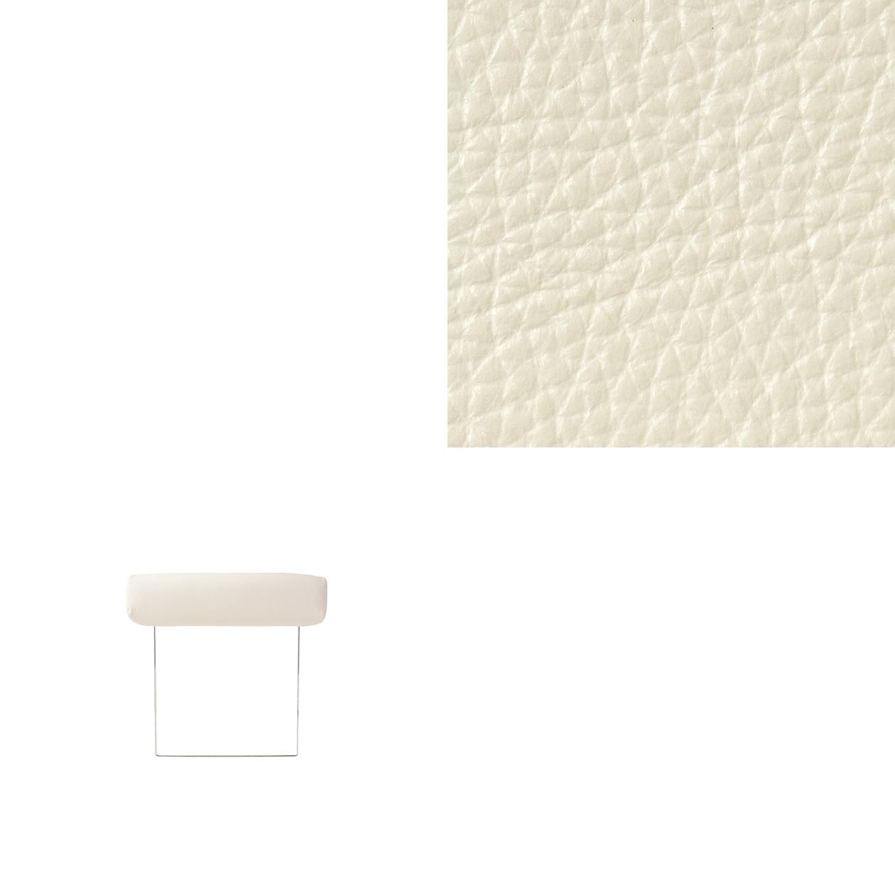 ソファ本体・ヘッドレスト・2.5シーター用革カバー/白