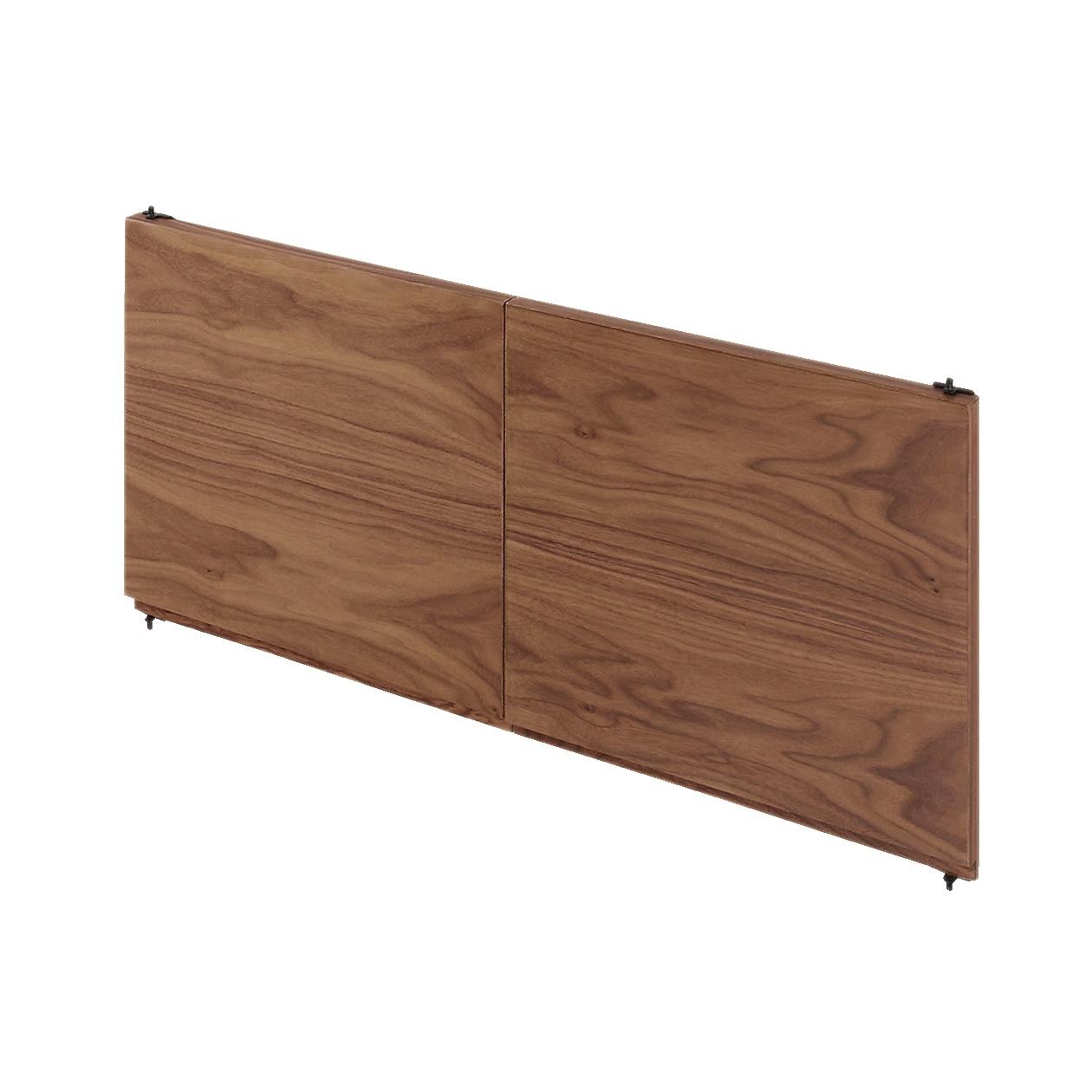 スタッキングキャビネット・木製扉(左右セット)・ウォールナット材