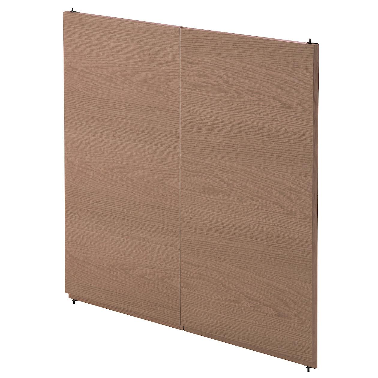 スタッキングキャビネット・木製扉ハイタイプ(左右セット)・ウォールナット材