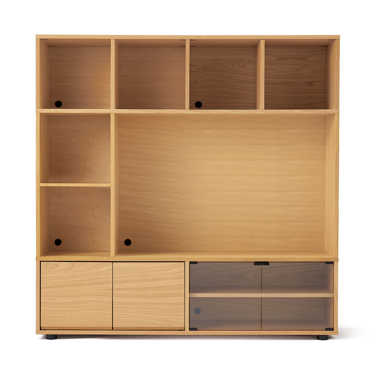 Wooden Stacking Cabinet - AV Set