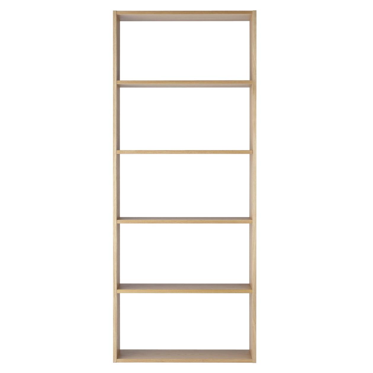 Stacking Shelf Wide Type 5 Shelves Oak W81 5 D28 5 H200cm Muji