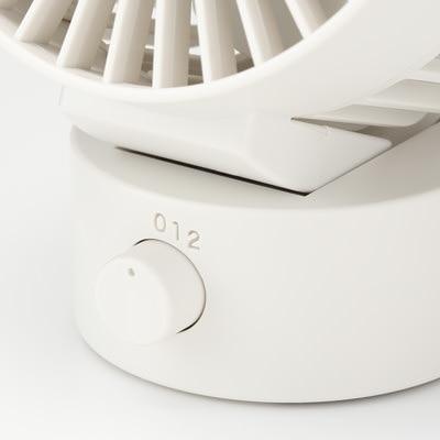 無印良品 | USBデスクファン(低騒音ファン・首振りタイプ)・ホワイト型番:MJ‐9ZF021AZ03 通販