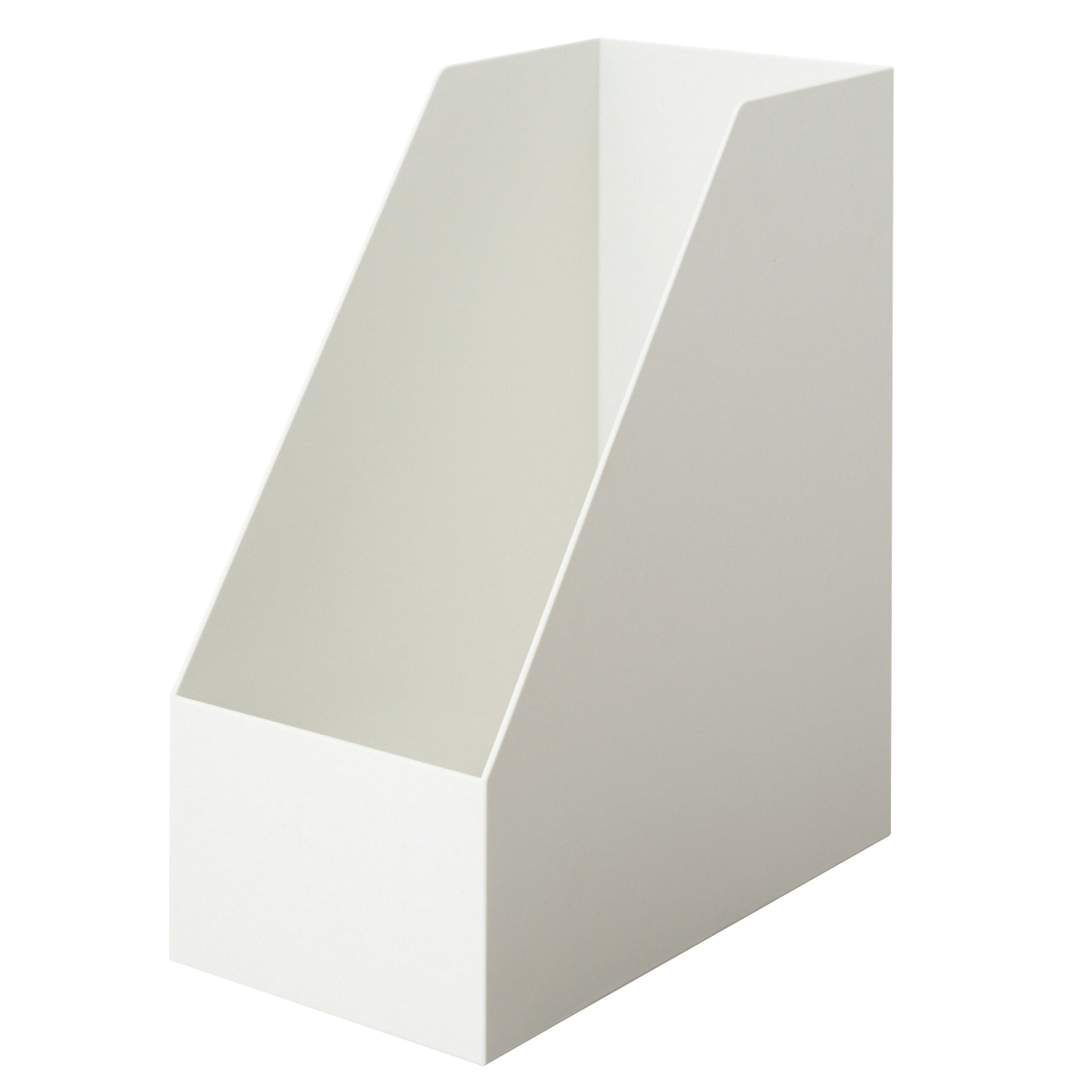 【まとめ買い】PPスタンドファイルボックス・ワイド・A4用・ホワイトグレー