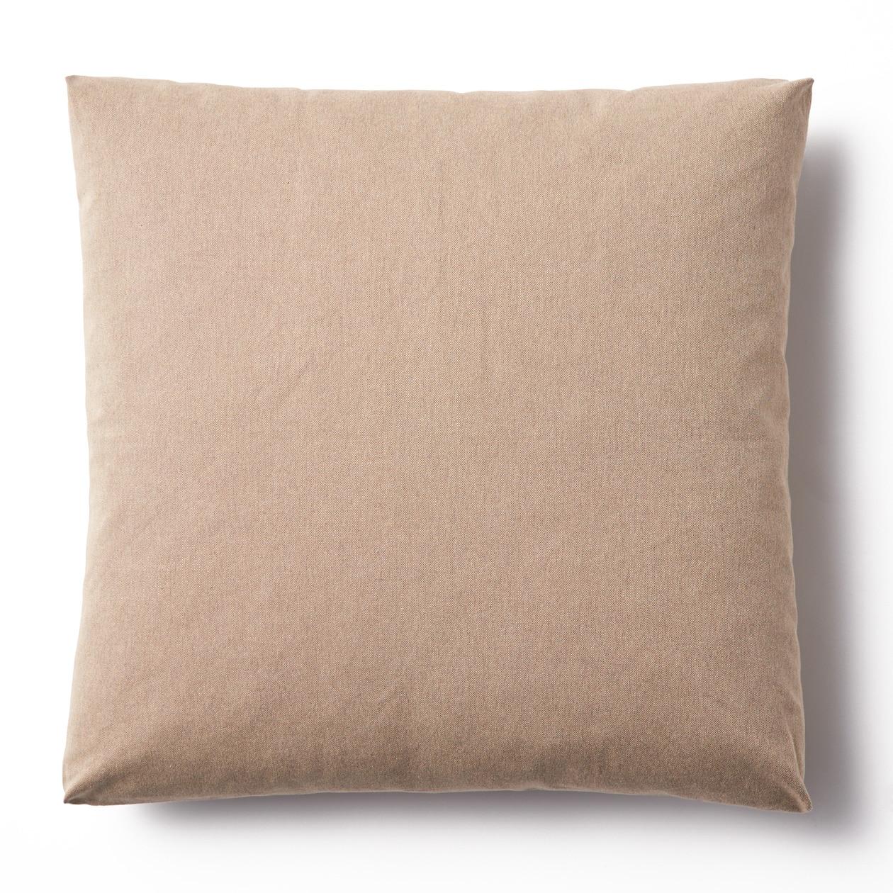 綿平織ユニットソファ用羽根クッションカバー/ベージュ ベージュ