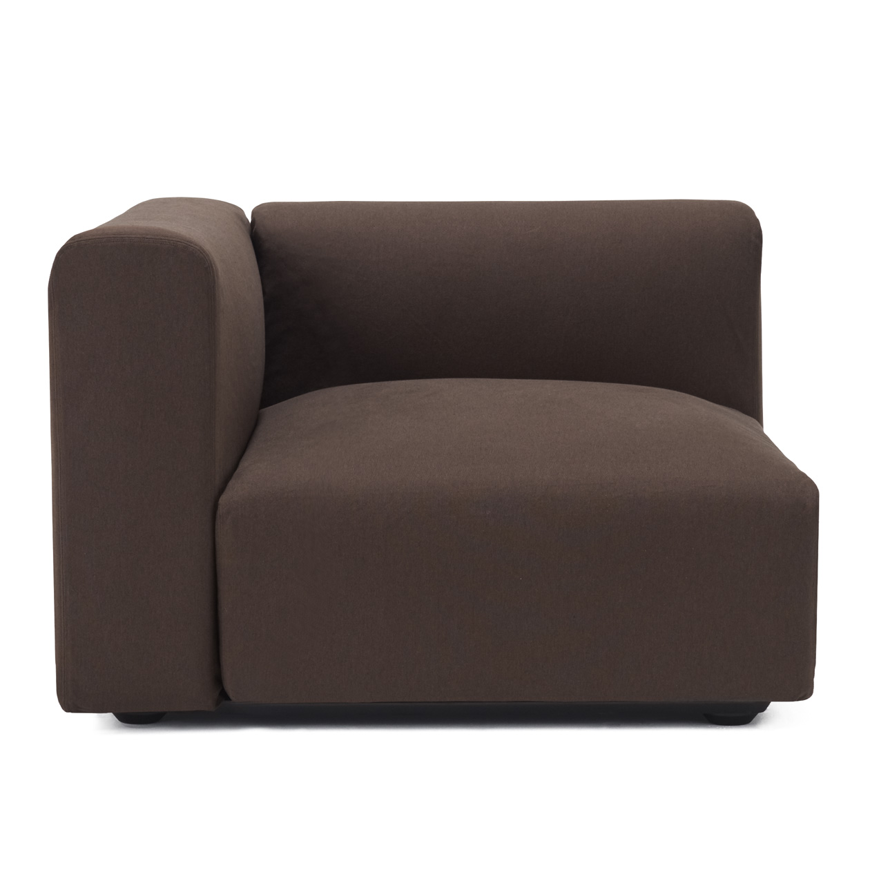 Enjoyable Cotton Cover For Unit Sofa With Armrest L Dark Br For Bralicious Painted Fabric Chair Ideas Braliciousco