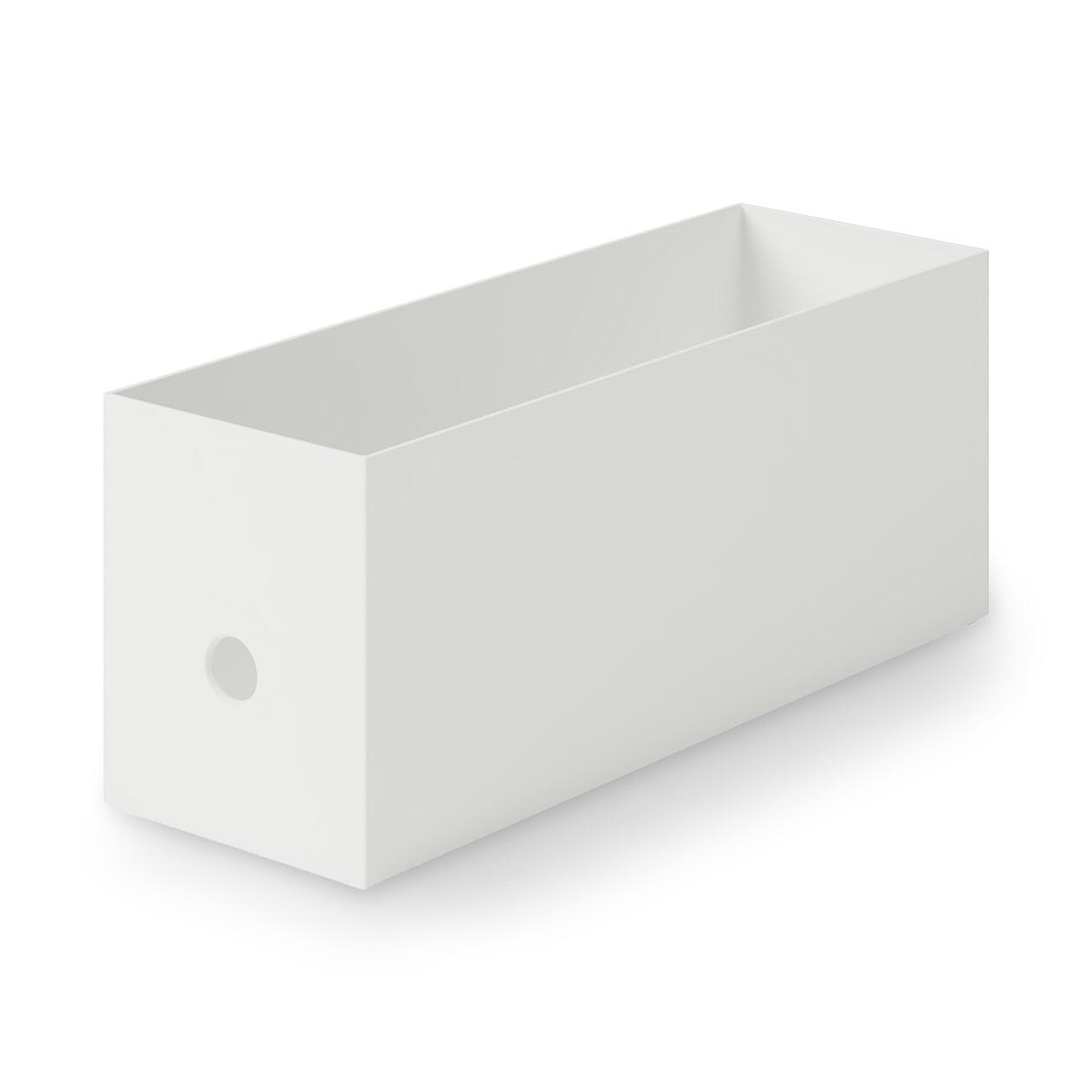 ポリプロピレンファイルボックス・スタンダードタイプ・ホワイトグレー・1/2の写真