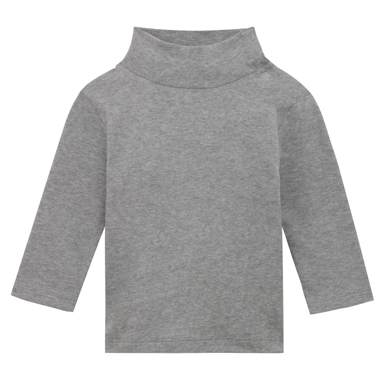 オーガニックコットン両面起毛スムースハイネック長袖Tシャツ(ベビー)