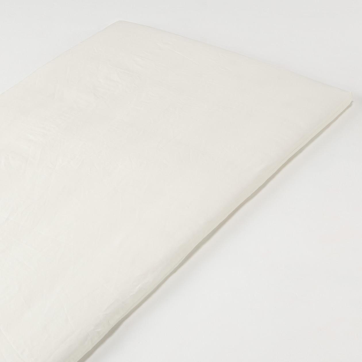 RoomClip商品情報 - 麻平織フラットシーツ・S/生成 S/オフ白