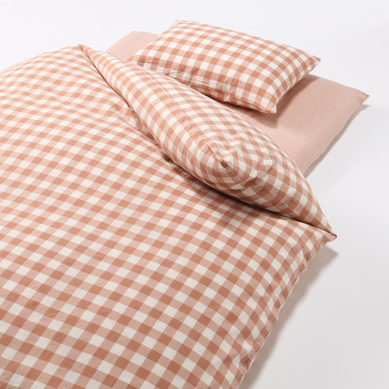 Cover Set For Futon S Light Pink Check