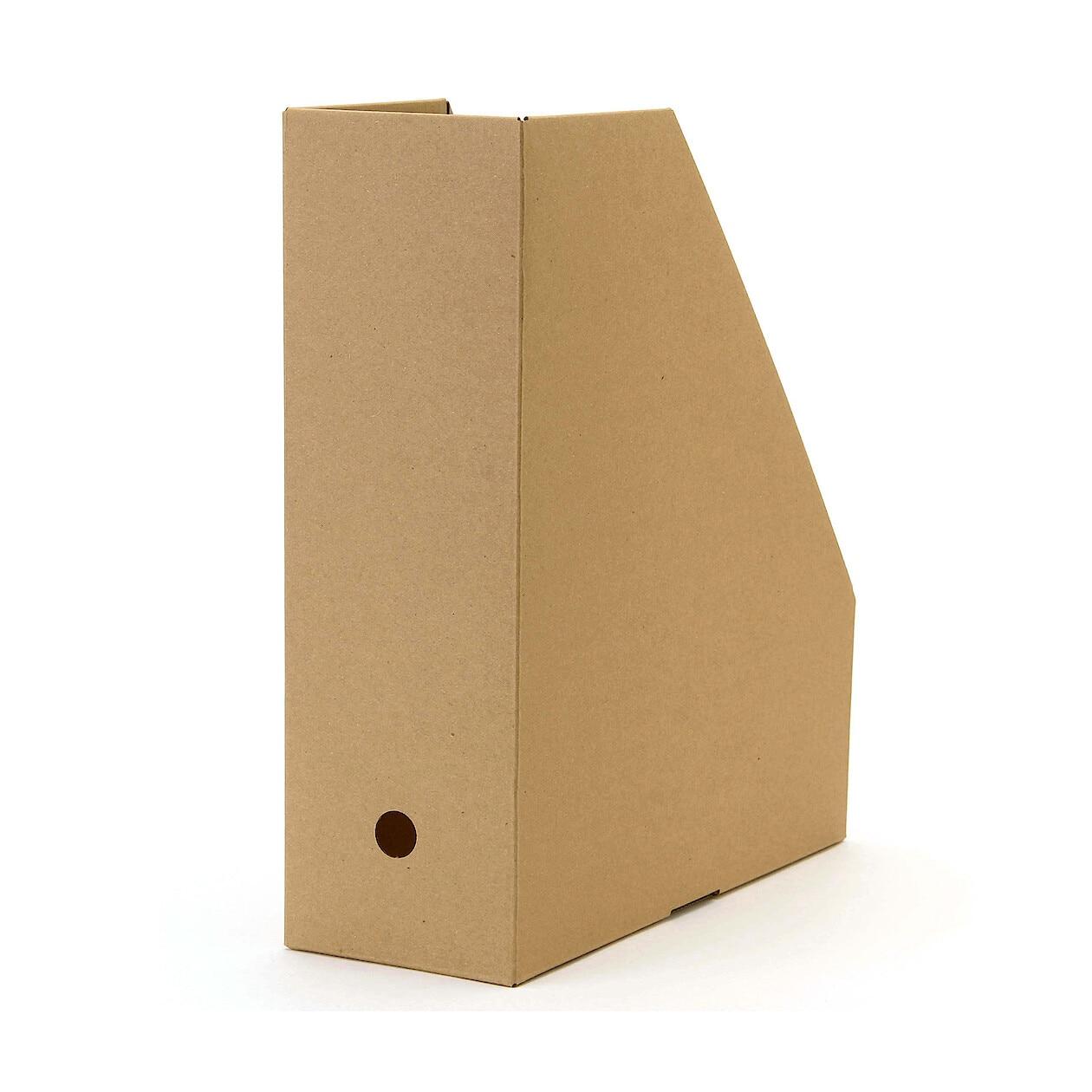 ワンタッチで組み立てられるダンボールスタンドファイルボックス・5枚組の写真