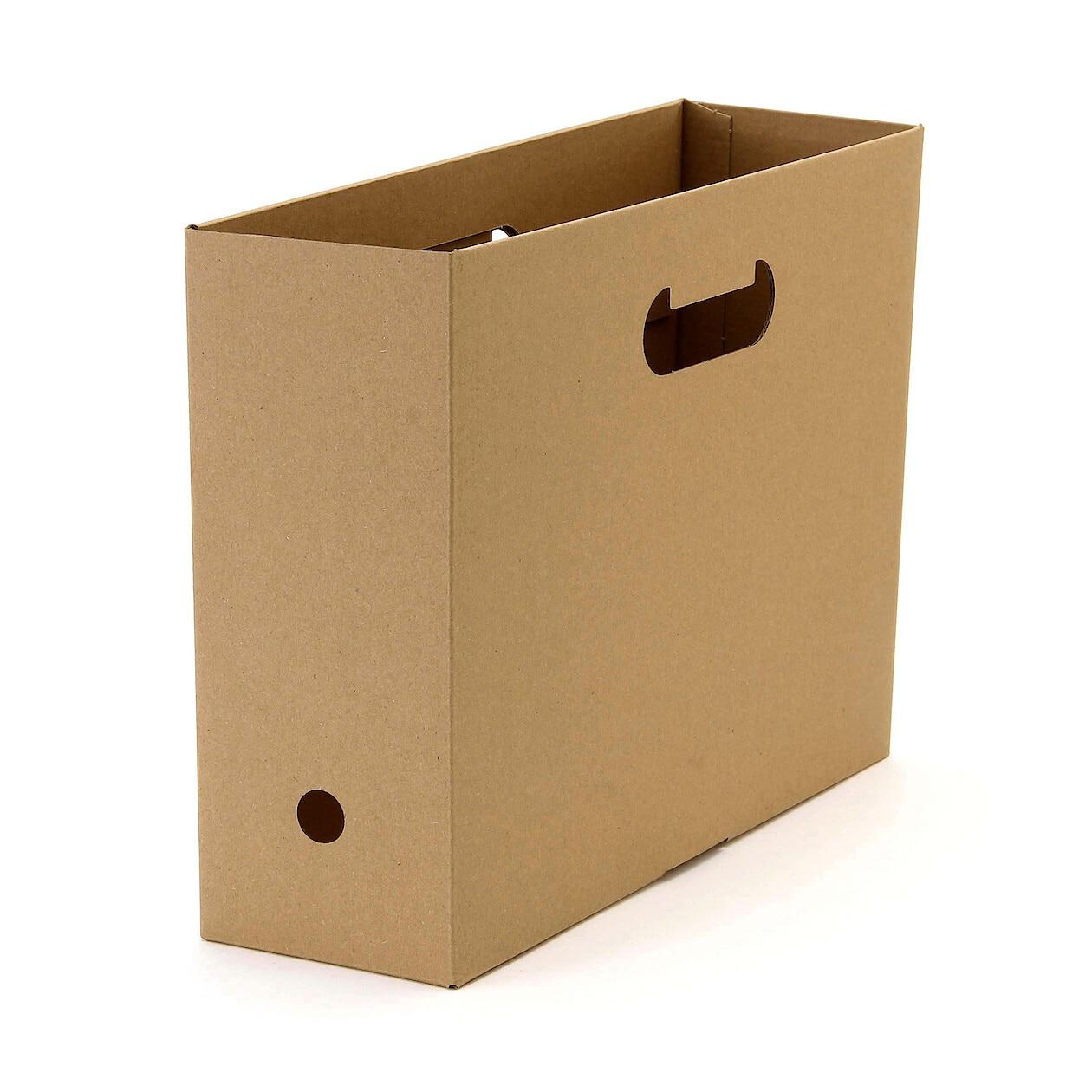 ワンタッチで組み立てられるダンボールファイルボックス A4用・5枚組