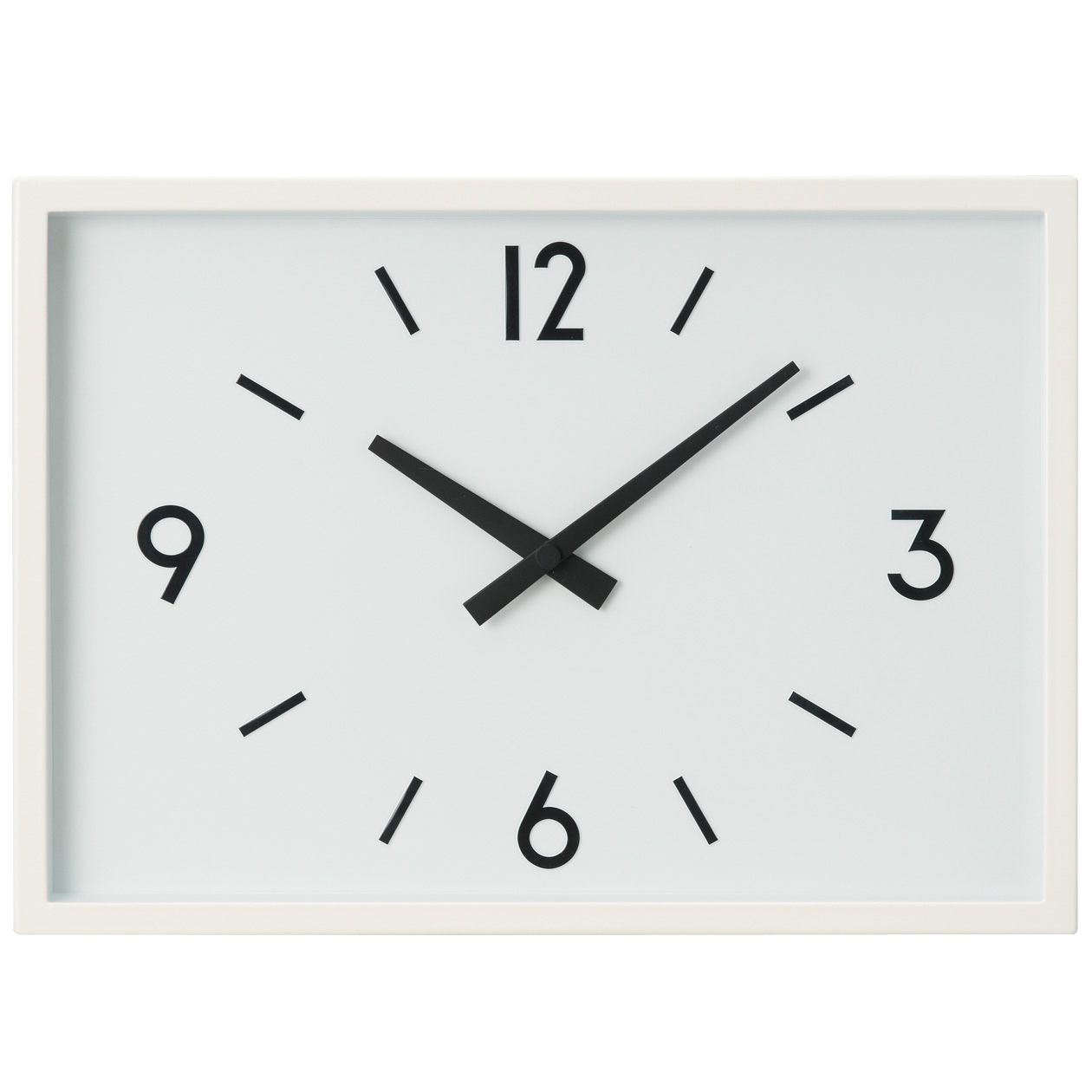 駅の時計・電波ウォールクロック・アイボリー