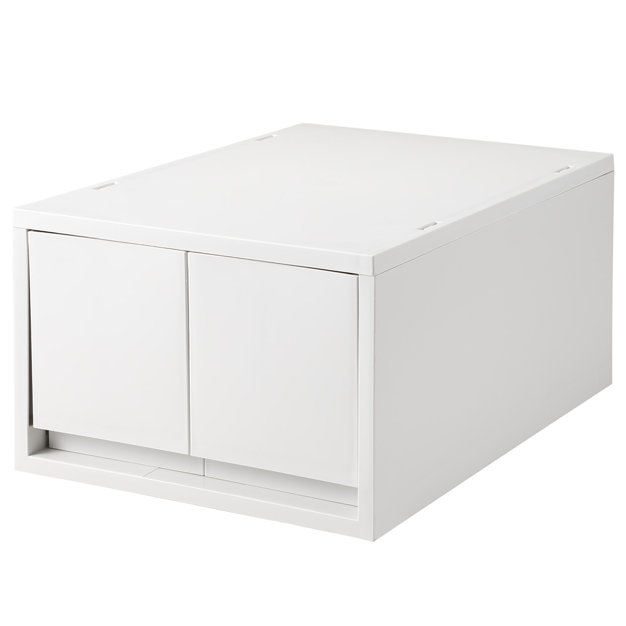 RoomClip商品情報 - ポリプロピレンケース・引出式・深型・2個(仕切付) ホワイトグレー