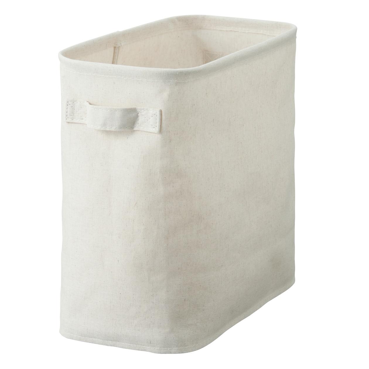 棉麻聚酯收納籃/L/半 約寬17.5×深35×高32cm | 無印良品