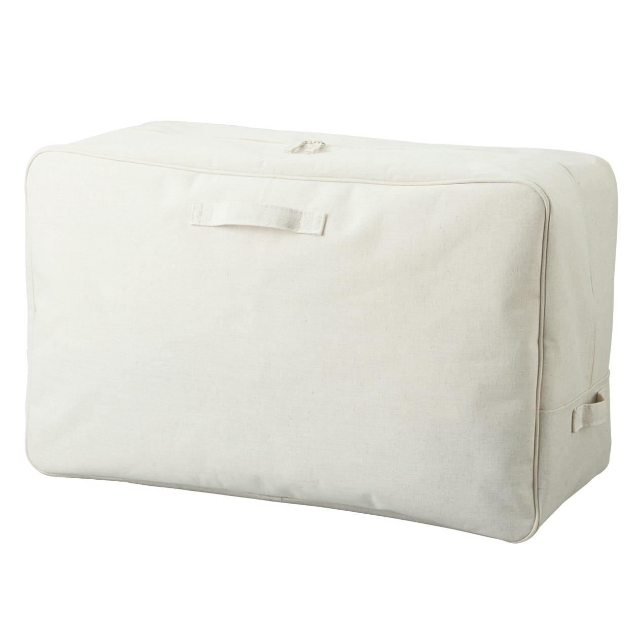 ポリエステル綿麻混・ソフトボックス・長方形ボックス・大の写真