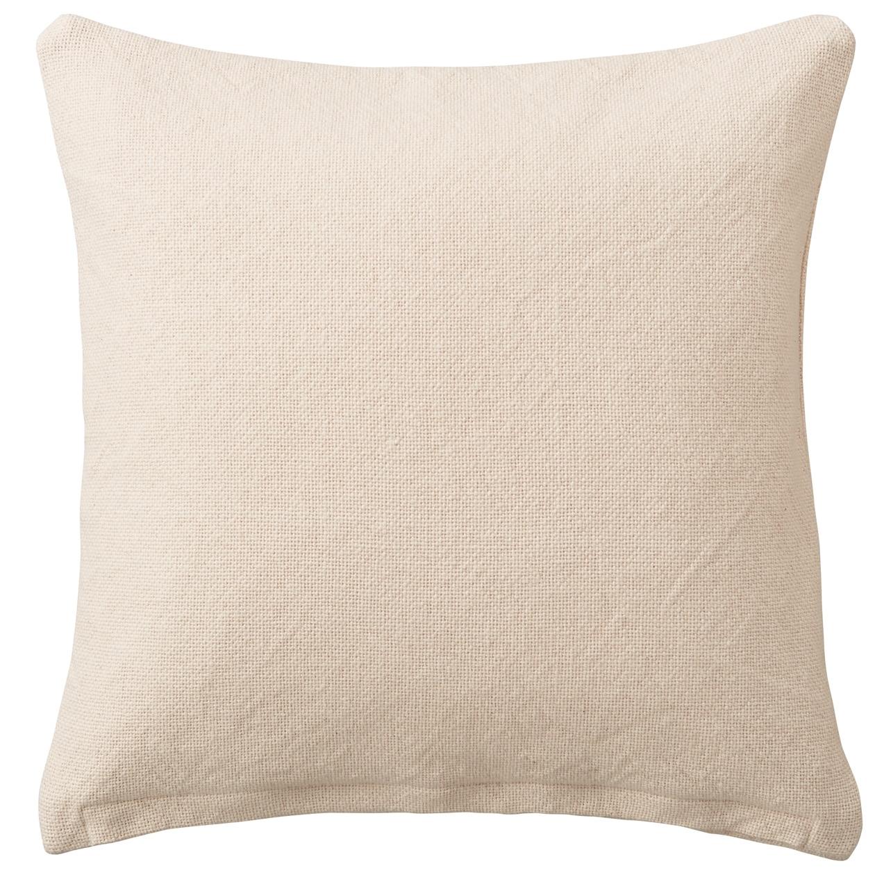 インド綿太番手平織クッションカバー/生成