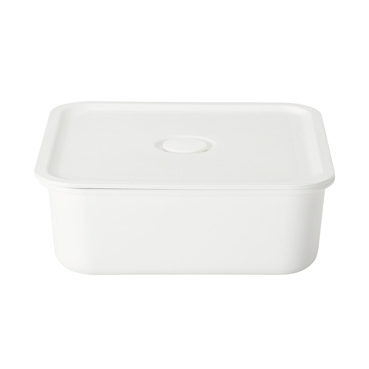 ポリプロピレン保存容器になるバルブ付弁当箱・白