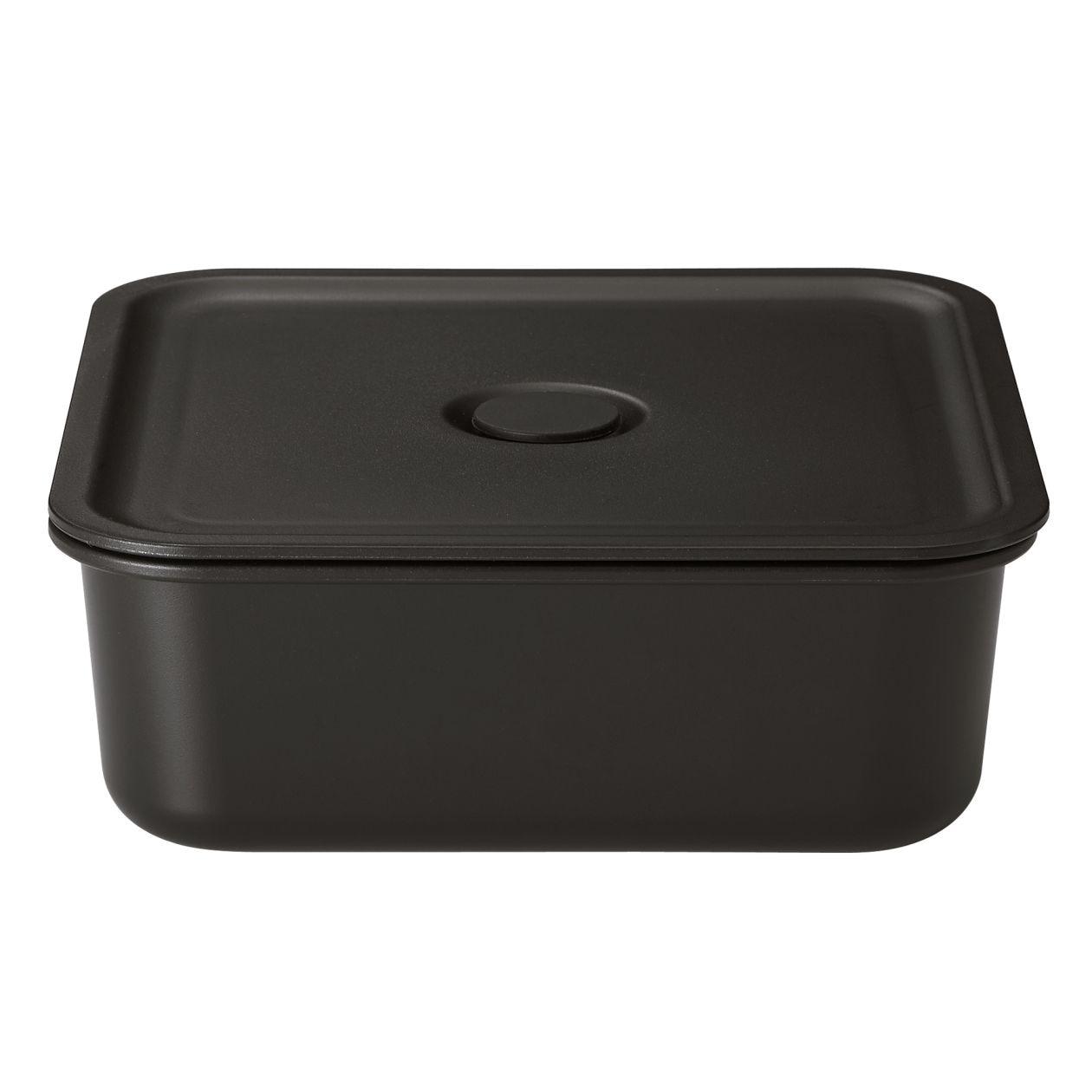 ポリプロピレン保存容器になるバルブ付弁当箱・黒