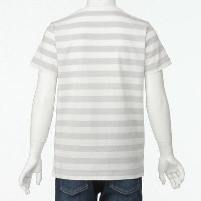 無印良品 | 毎日のこども服オーガニックコットンしましま半袖Tシャツ(キッズ)キッズ110・ライトシルバーグレー 通販