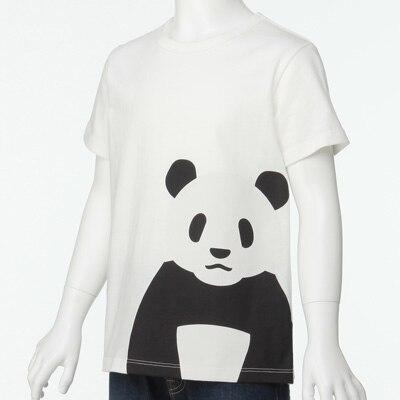 無印良品 | オーガニックコットンプリントTシャツ(キッズ)キッズ110・ジャイアントパンダ 通販