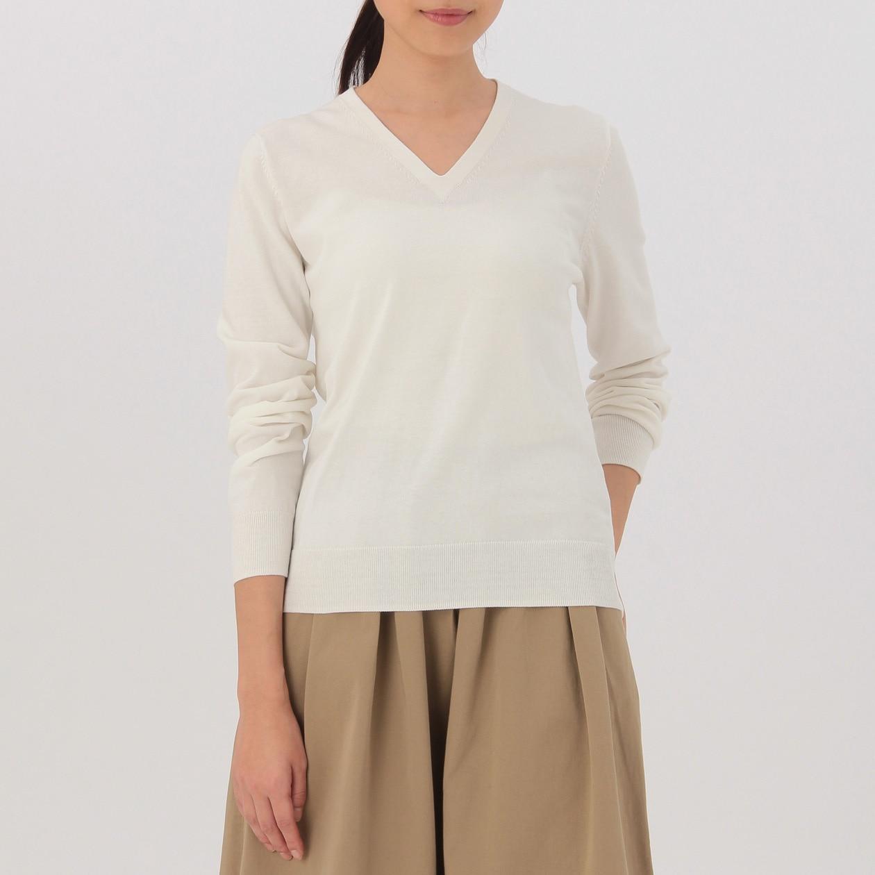 最新のデザインエレガントな女性のvネック白セミフォーマルなトップスやブラウス