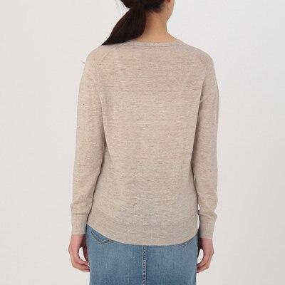 18SS 新作 無印良品 フレンチリネンUVカットVネックセーター 婦人 ネイビー サイズM 新品