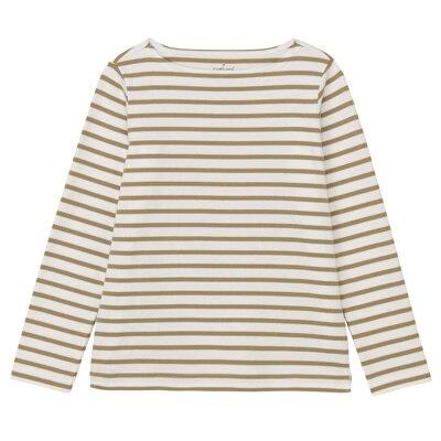無印良品 | オーガニックコットン太番手ボーダー長袖Tシャツ婦人XS・白×ベージュ 通販
